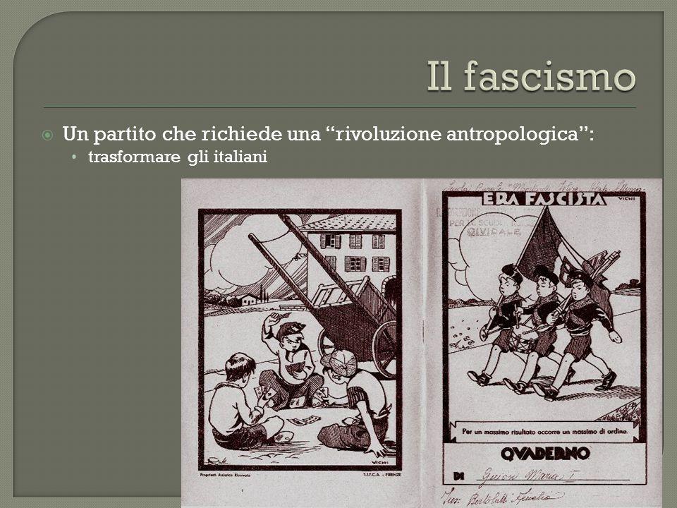 """ Un partito che richiede una """"rivoluzione antropologica"""": trasformare gli italiani"""
