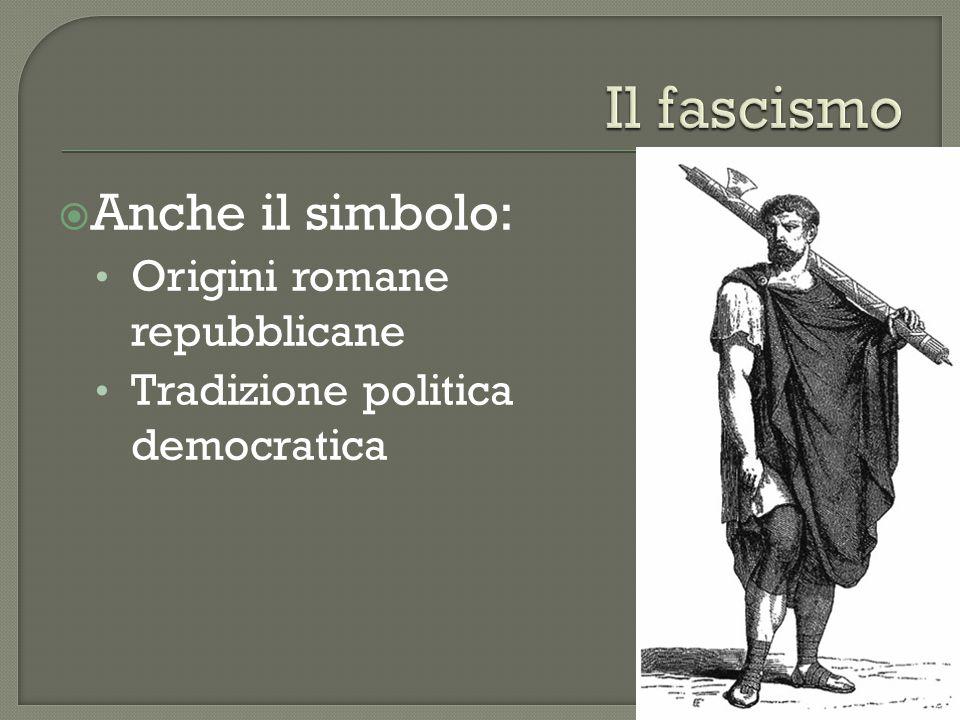  Anche il simbolo: Origini romane repubblicane Tradizione politica democratica