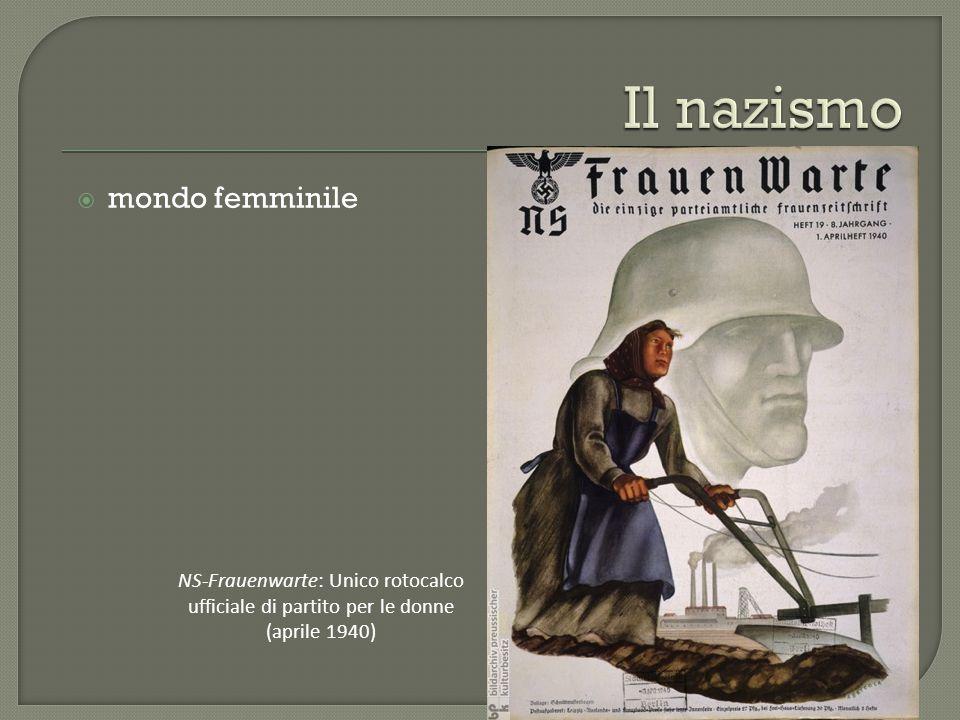  mondo femminile NS-Frauenwarte: Unico rotocalco ufficiale di partito per le donne (aprile 1940)