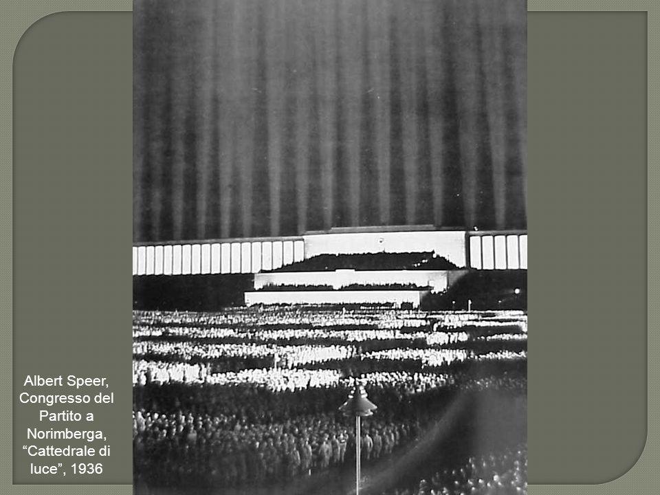 """Albert Speer, Congresso del Partito a Norimberga, """"Cattedrale di luce"""", 1936"""
