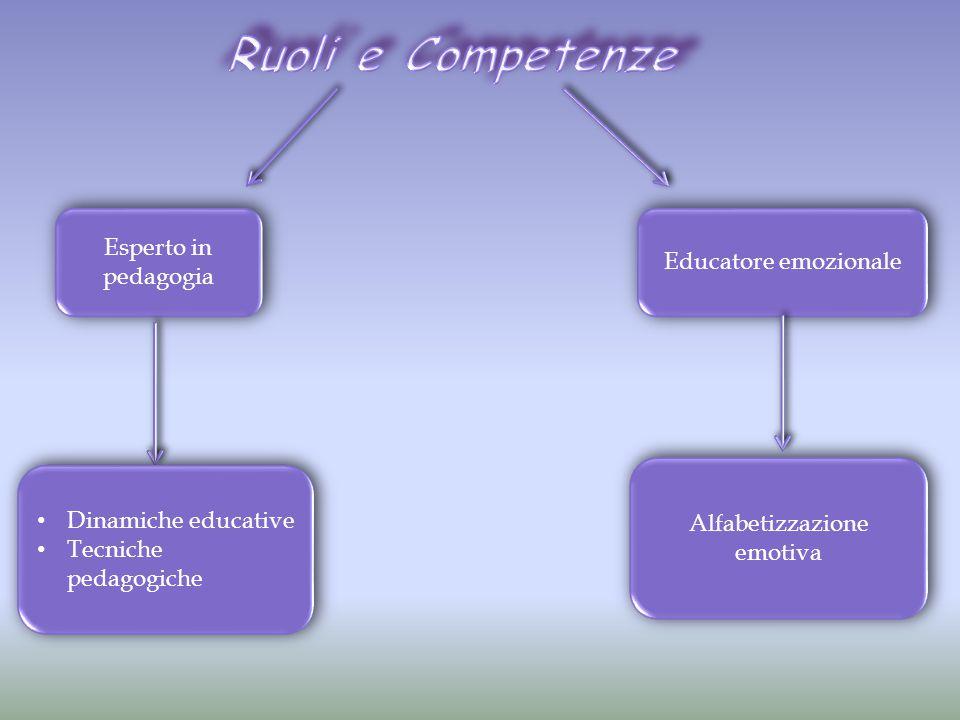 Esperto in pedagogia Educatore emozionale Dinamiche educative Tecniche pedagogiche Dinamiche educative Tecniche pedagogiche Alfabetizzazione emotiva