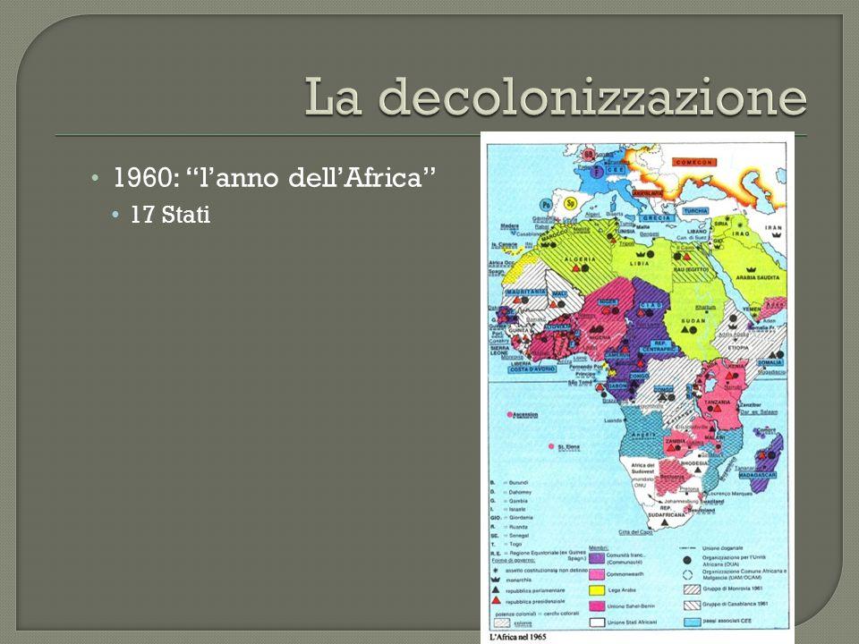 1960: l'anno dell'Africa 17 Stati
