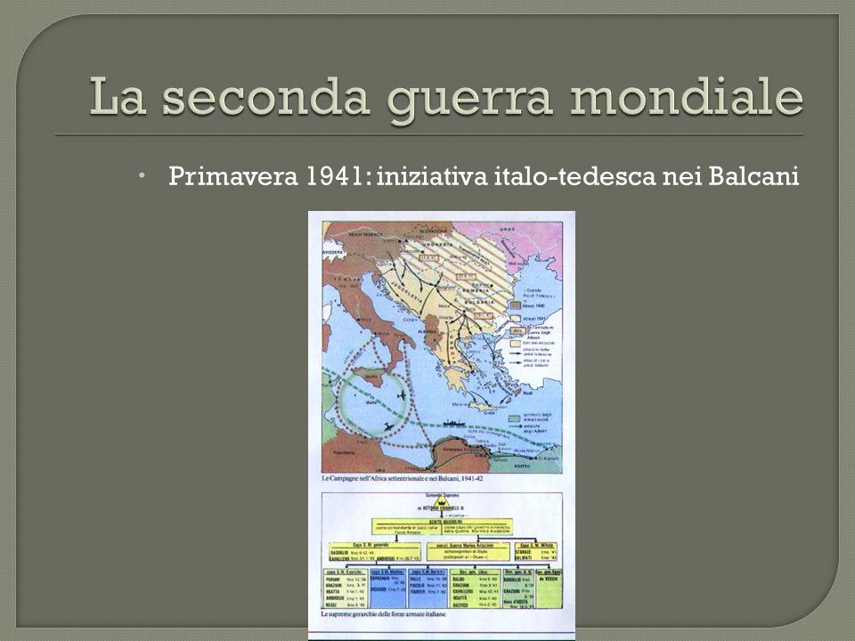  Primavera 1941: iniziativa italo-tedesca nei Balcani
