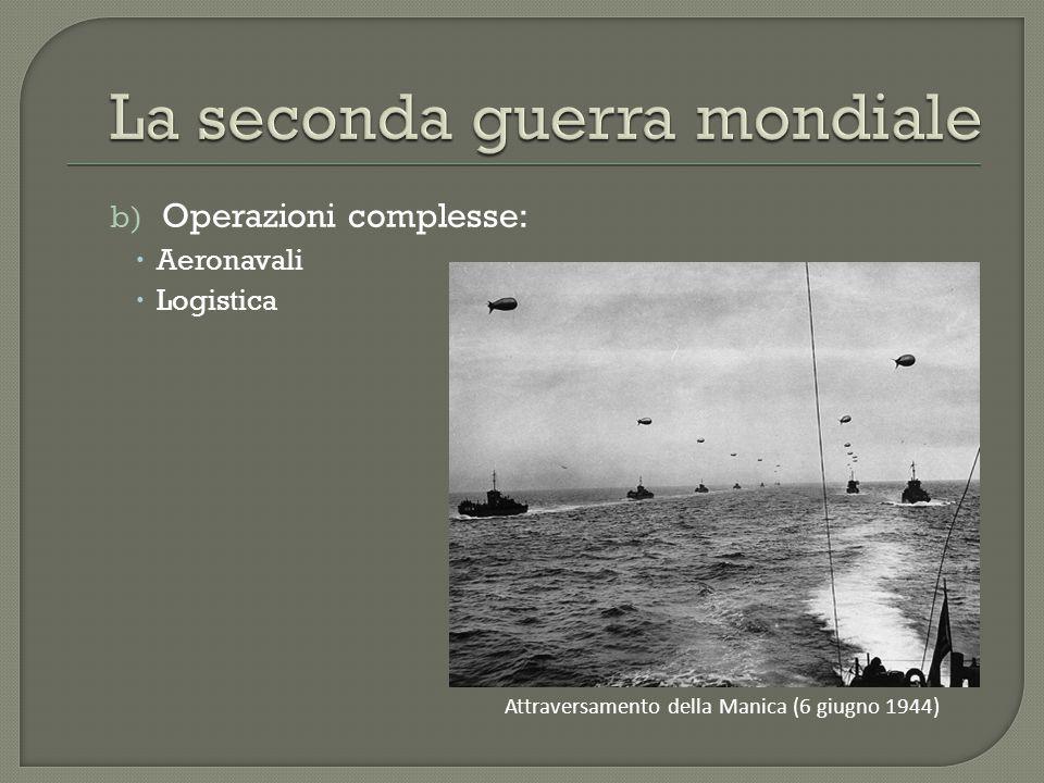 b) Operazioni complesse:  Aeronavali  Logistica Attraversamento della Manica (6 giugno 1944)