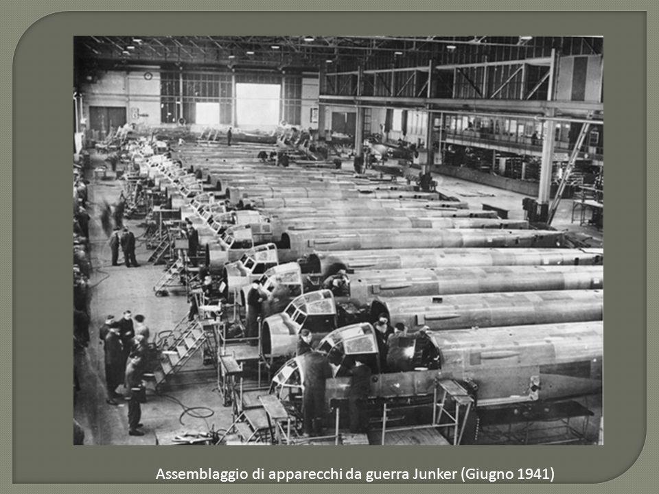 Assemblaggio di apparecchi da guerra Junker (Giugno 1941)