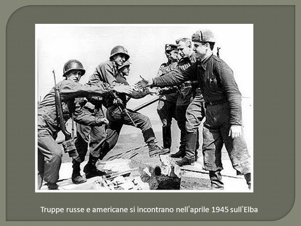 Truppe russe e americane si incontrano nell ' aprile 1945 sull ' Elba