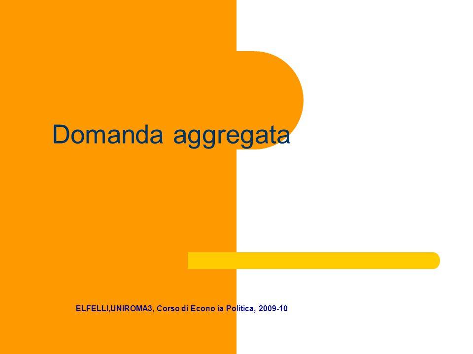 Domanda aggregata ELFELLI,UNIROMA3, Corso di Econo ia Politica, 2009-10