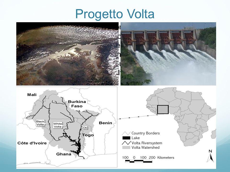 Progetto Volta Il lago Volta, con un'estensione di circa 8502 km 2 e un invaso di 148 km 3, è il maggiore lago artificiale al mondo dopo che nel 1966