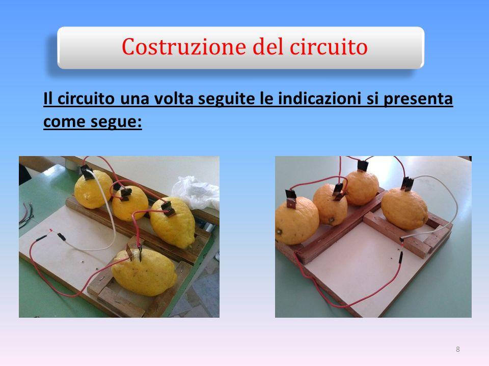 8 Costruzione del circuito Il circuito una volta seguite le indicazioni si presenta come segue: