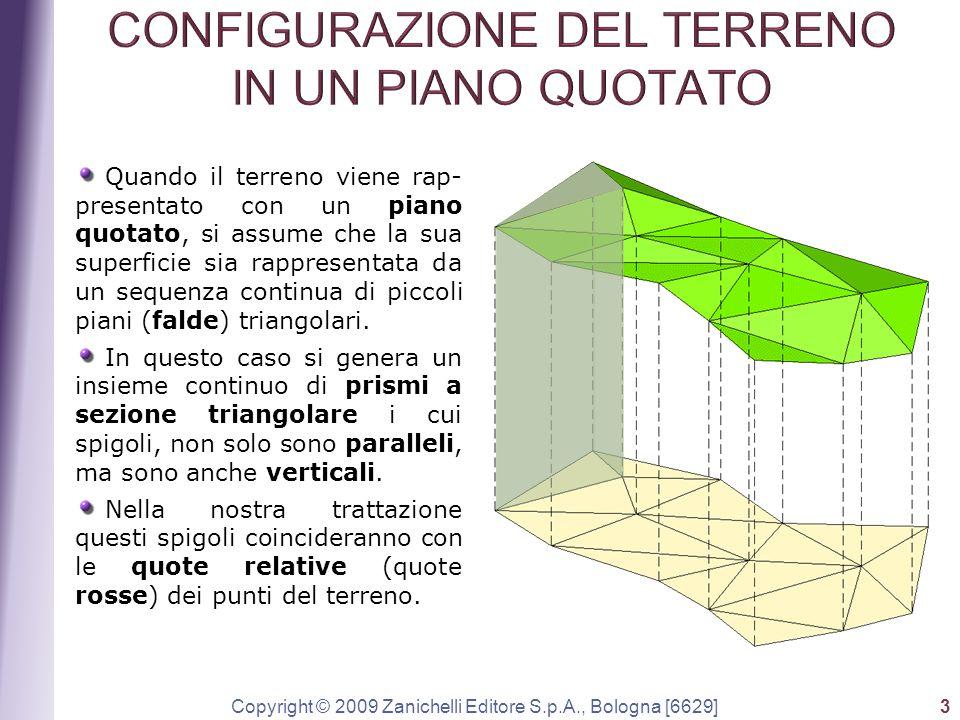 Copyright © 2009 Zanichelli Editore S.p.A., Bologna [6629] 3 Quando il terreno viene rap- presentato con un piano quotato, si assume che la sua superf