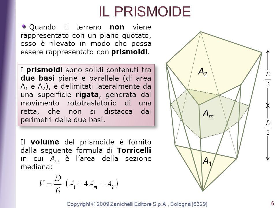 Copyright © 2009 Zanichelli Editore S.p.A., Bologna [6629] 6 Quando il terreno non viene rappresentato con un piano quotato, esso è rilevato in modo c