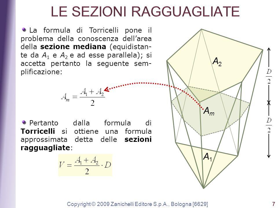Copyright © 2009 Zanichelli Editore S.p.A., Bologna [6629] 7 La formula di Torricelli pone il problema della conoscenza dell'area della sezione median