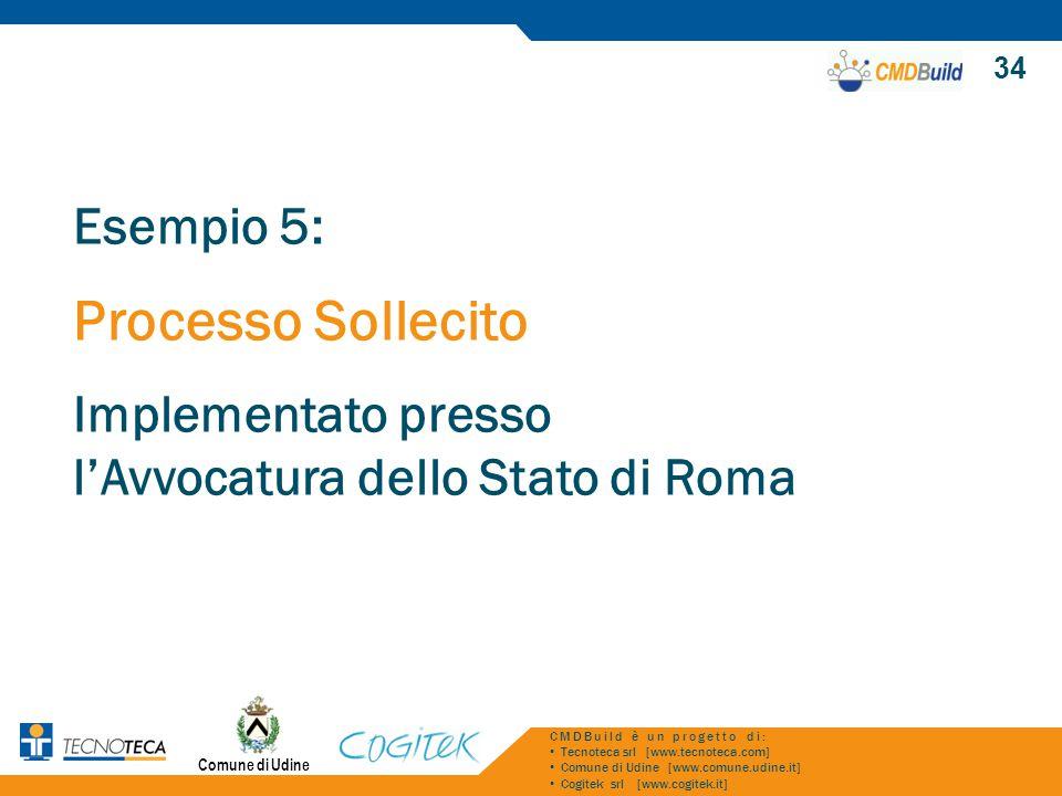 Comune di Udine 34 CMDBuild è un progetto di: Tecnoteca srl [www.tecnoteca.com] Comune di Udine [www.comune.udine.it] Cogitek srl [www.cogitek.it] Ese