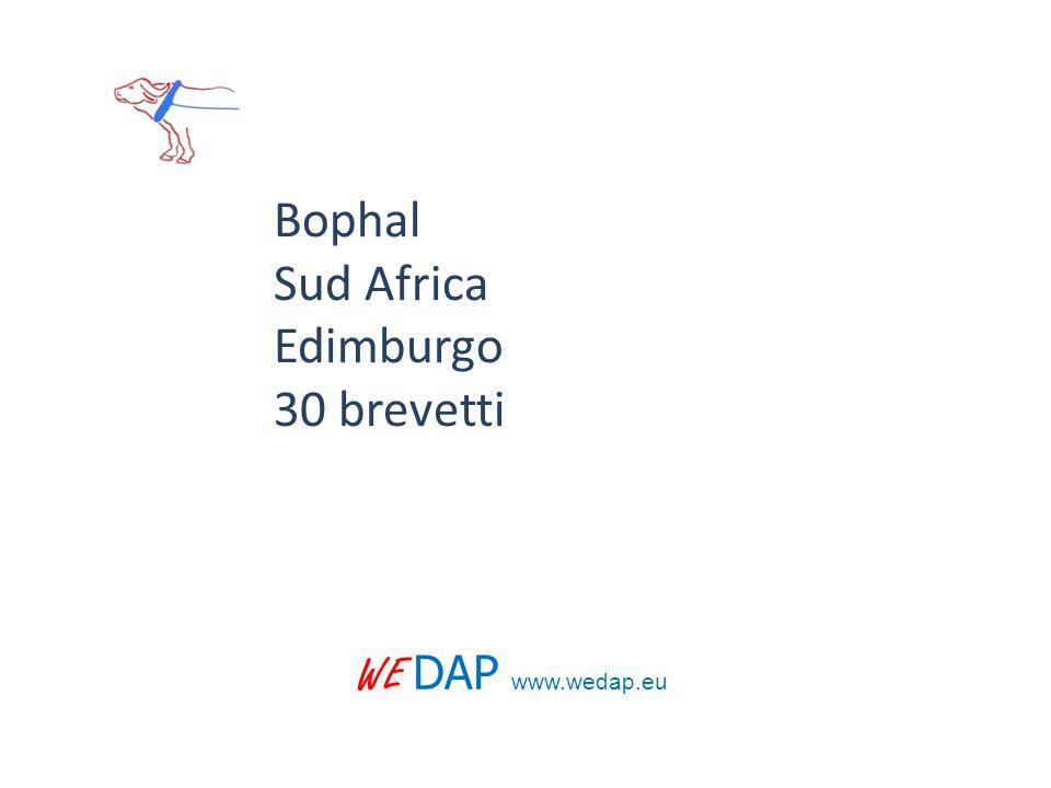 WE DAP www.wedap.eu Bophal Sud Africa Edimburgo 30 brevetti