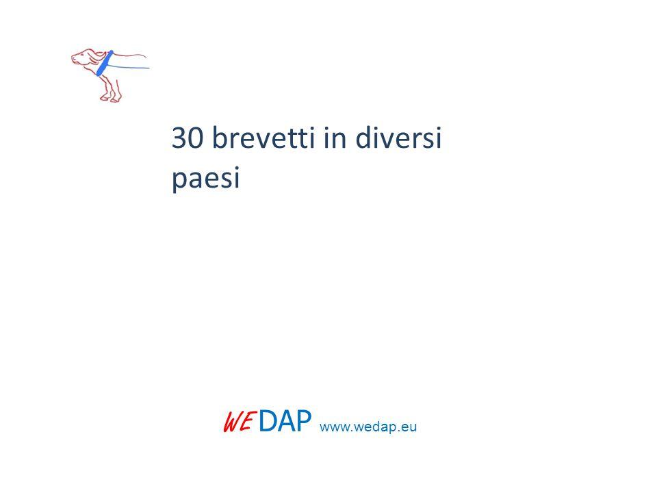 WE DAP www.wedap.eu 30 brevetti in diversi paesi