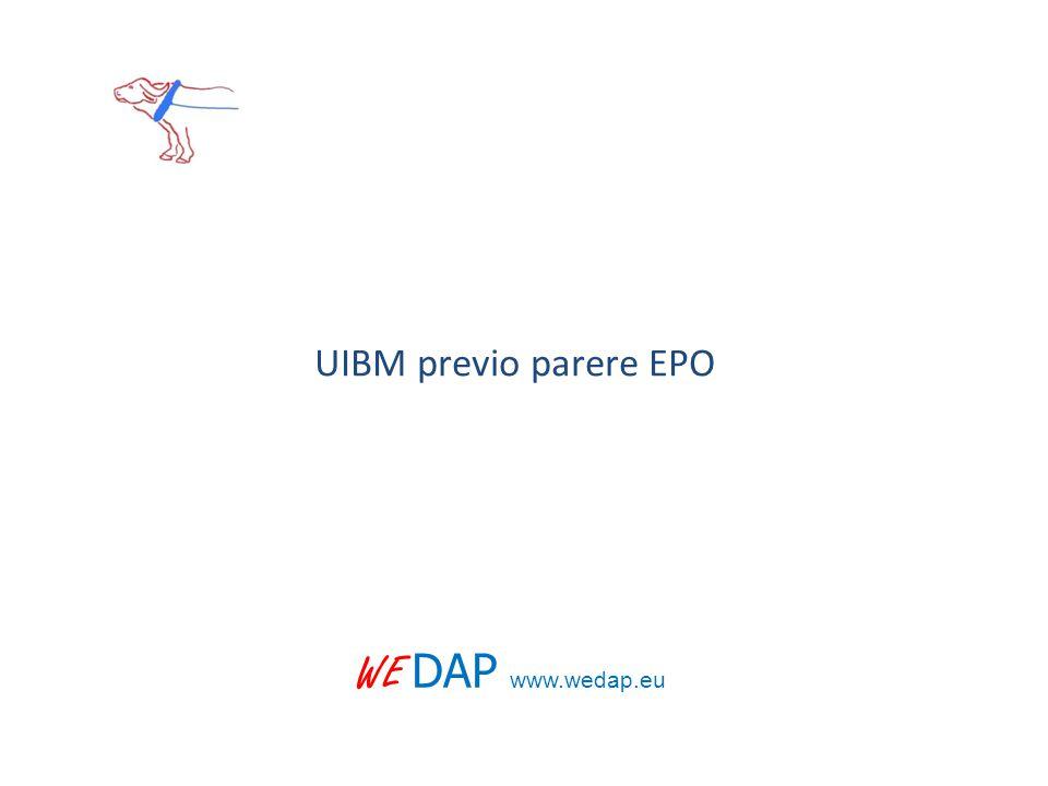 UIBM previo parere EPO WE DAP www.wedap.eu