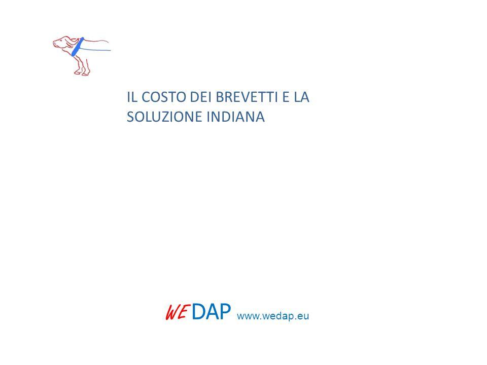 WE DAP www.wedap.eu IL COSTO DEI BREVETTI E LA SOLUZIONE INDIANA