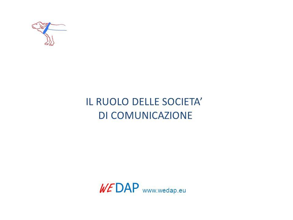 IL RUOLO DELLE SOCIETA' DI COMUNICAZIONE WE DAP www.wedap.eu