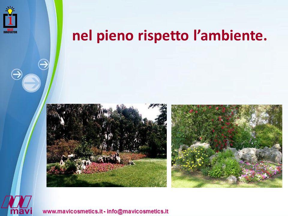 Powerpoint Templates www.mavicosmetics.it - info@mavicosmetics.it nel pieno rispetto l'ambiente.