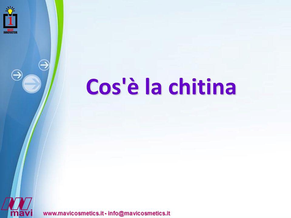 Powerpoint Templates www.mavicosmetics.it - info@mavicosmetics.it Cos è la chitina