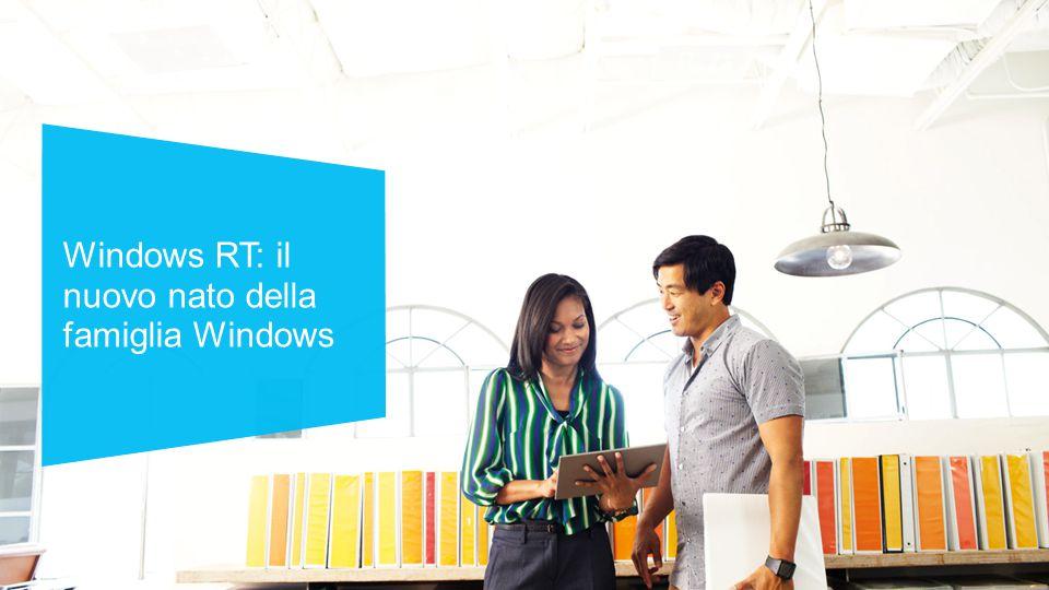 Windows RT: il nuovo nato della famiglia Windows