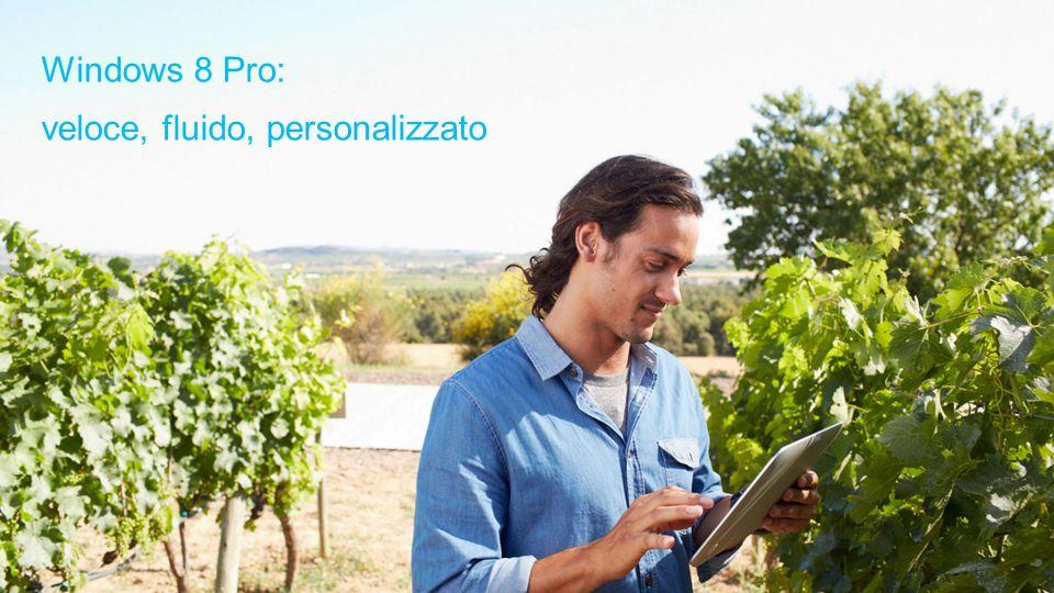 Porta a termine tutte le tue attività Grazie a Windows 8 Pro non dovrai più scegliere tra prestazioni, sicurezza o flessibilità.