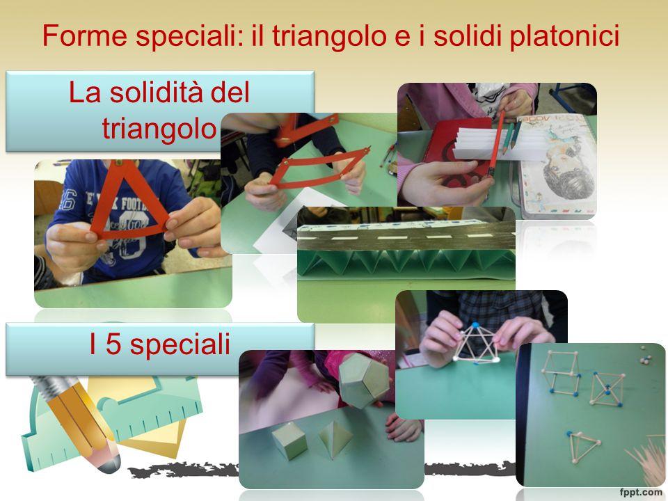 Forme speciali: il triangolo e i solidi platonici La solidità del triangolo I 5 speciali