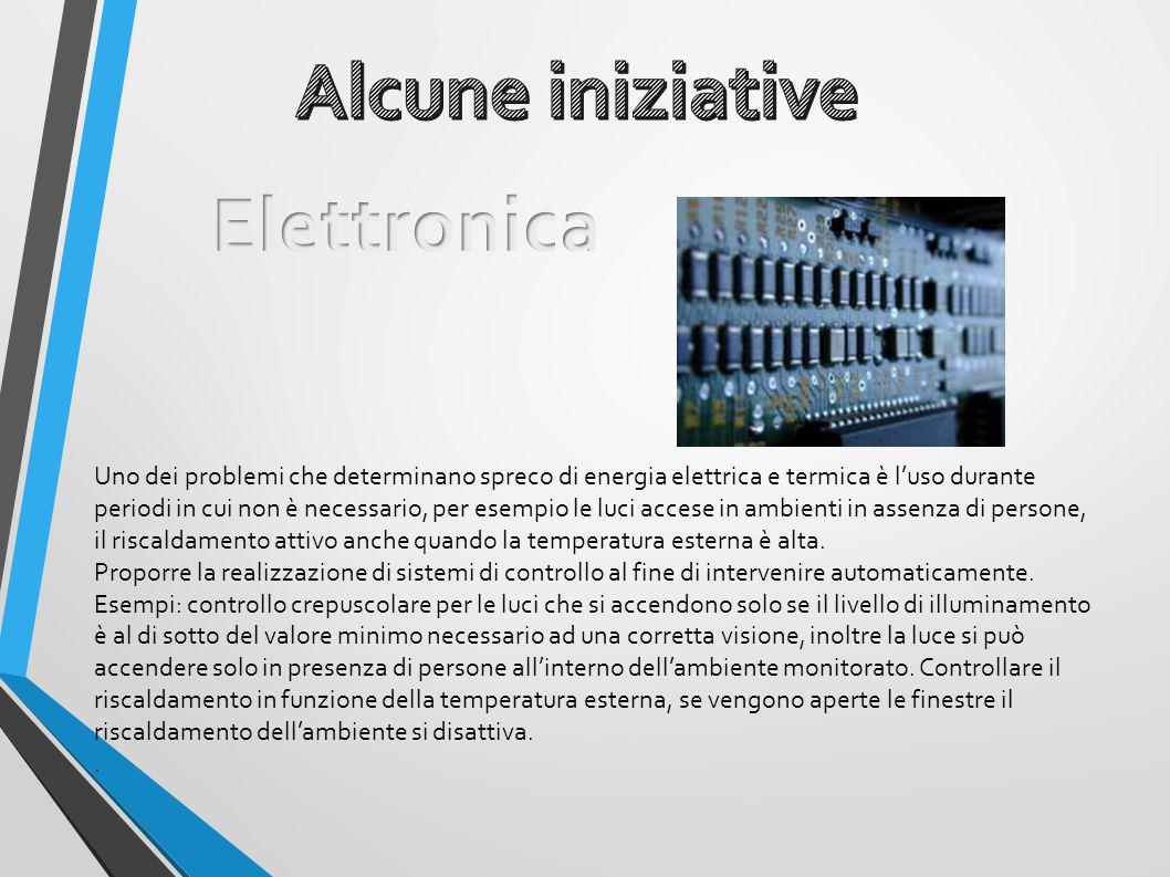 Uno dei problemi che determinano spreco di energia elettrica e termica è l'uso durante periodi in cui non è necessario, per esempio le luci accese in