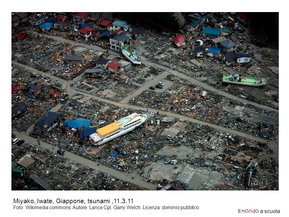 Miyako, Iwate, Giappone, tsunami,11.3.11 Foto: Wikimedia commons.