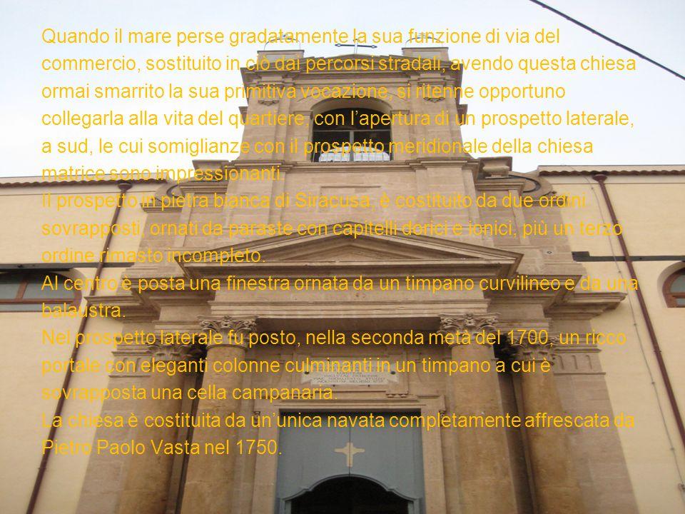Un recente studio di E. Magnano di San Lio ha posto in evidenza il ruolo del quartiere del Suffragio al tempo dell'edificazione della chiesa, anello d