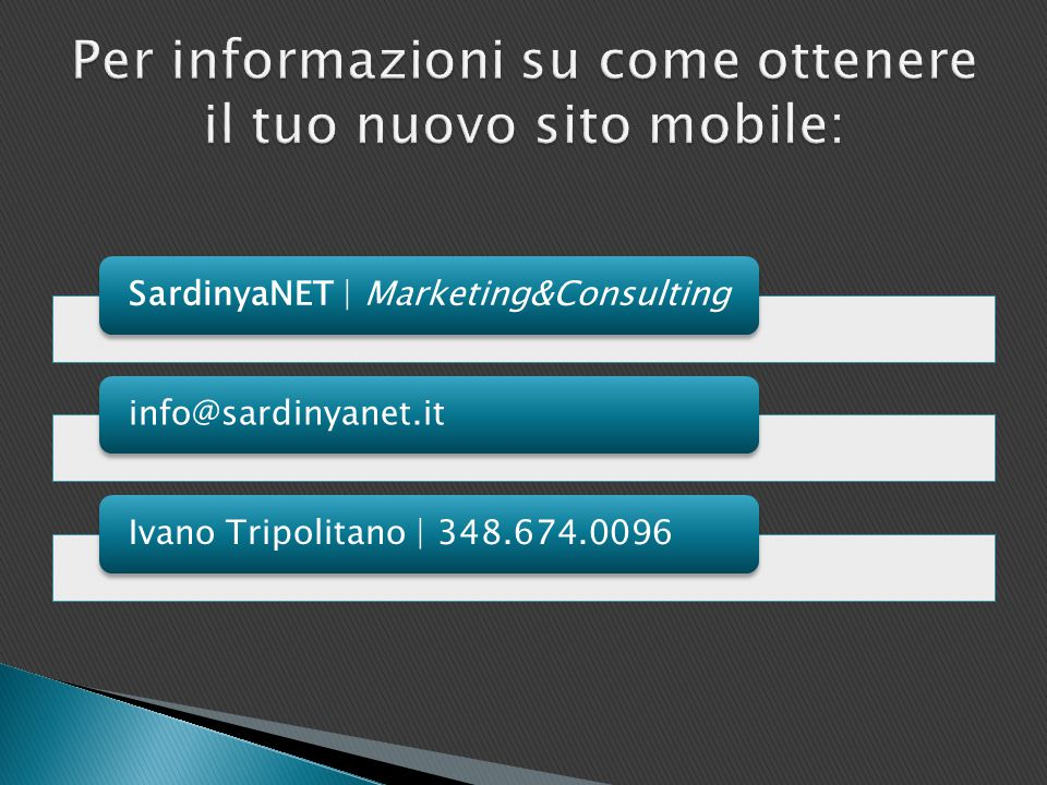 SardinyaNET | Marketing&Consultinginfo@sardinyanet.itIvano Tripolitano | 348.674.0096