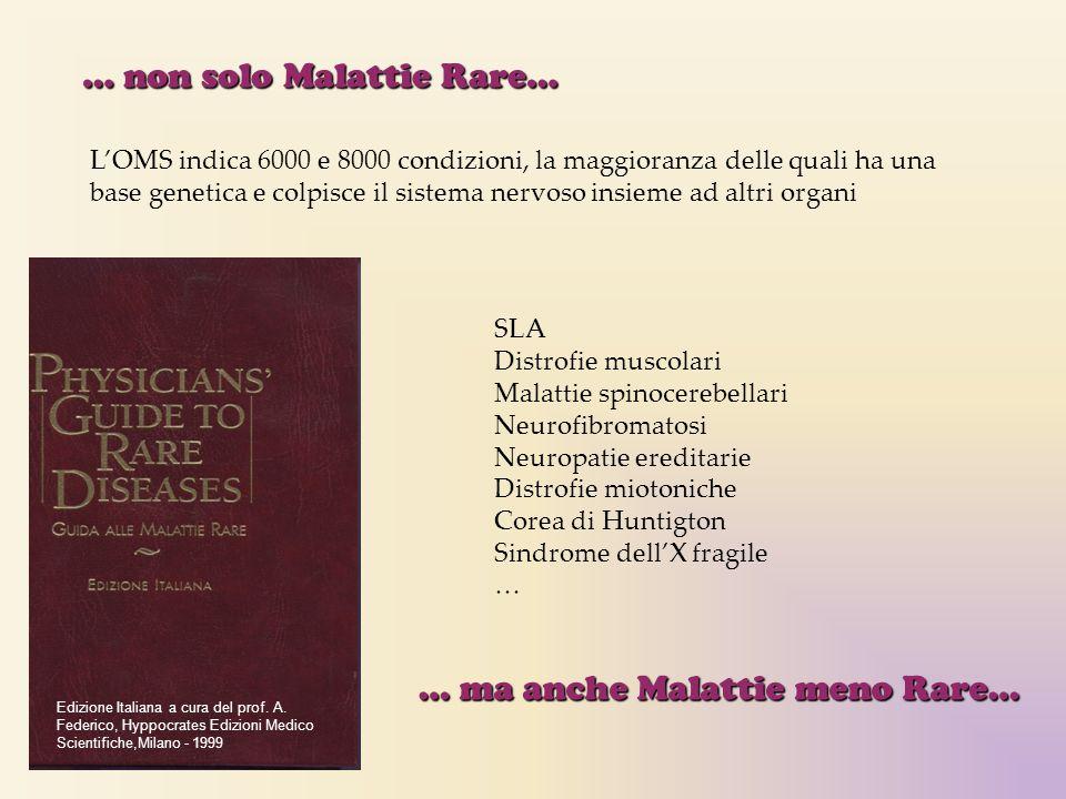 Edizione Italiana a cura del prof. A. Federico, Hyppocrates Edizioni Medico Scientifiche,Milano - 1999 L'OMS indica 6000 e 8000 condizioni, la maggior