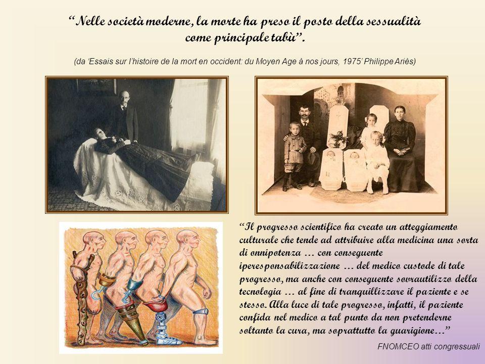 """""""Nelle società moderne, la morte ha preso il posto della sessualità come principale tabù"""". (da 'Essais sur l'histoire de la mort en occident: du Moyen"""