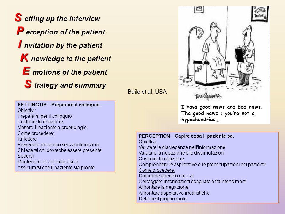 INVITATION – Ricevere dal paziente l invito a essere informato.