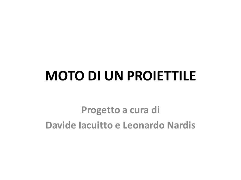 MOTO DI UN PROIETTILE Progetto a cura di Davide Iacuitto e Leonardo Nardis