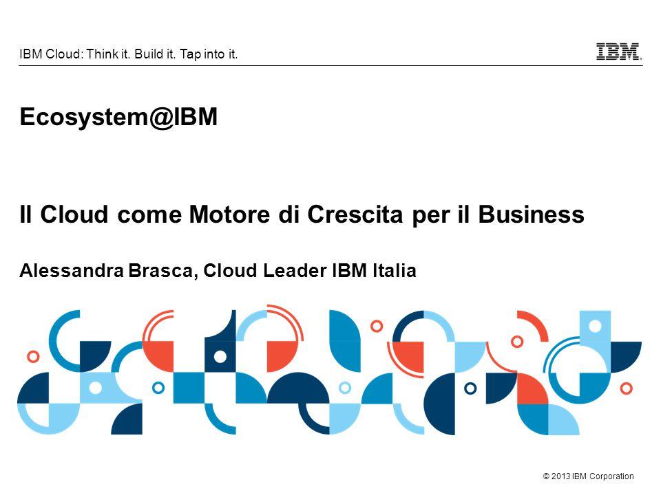 © 2013 IBM Corporation 12 IBM Cloud: Think it.Build it.