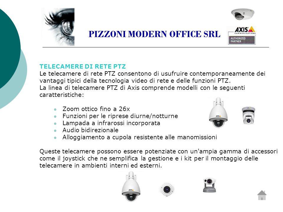 TELECAMERE DI RETE PTZ Le telecamere di rete PTZ consentono di usufruire contemporaneamente dei vantaggi tipici della tecnologia video di rete e delle funzioni PTZ.