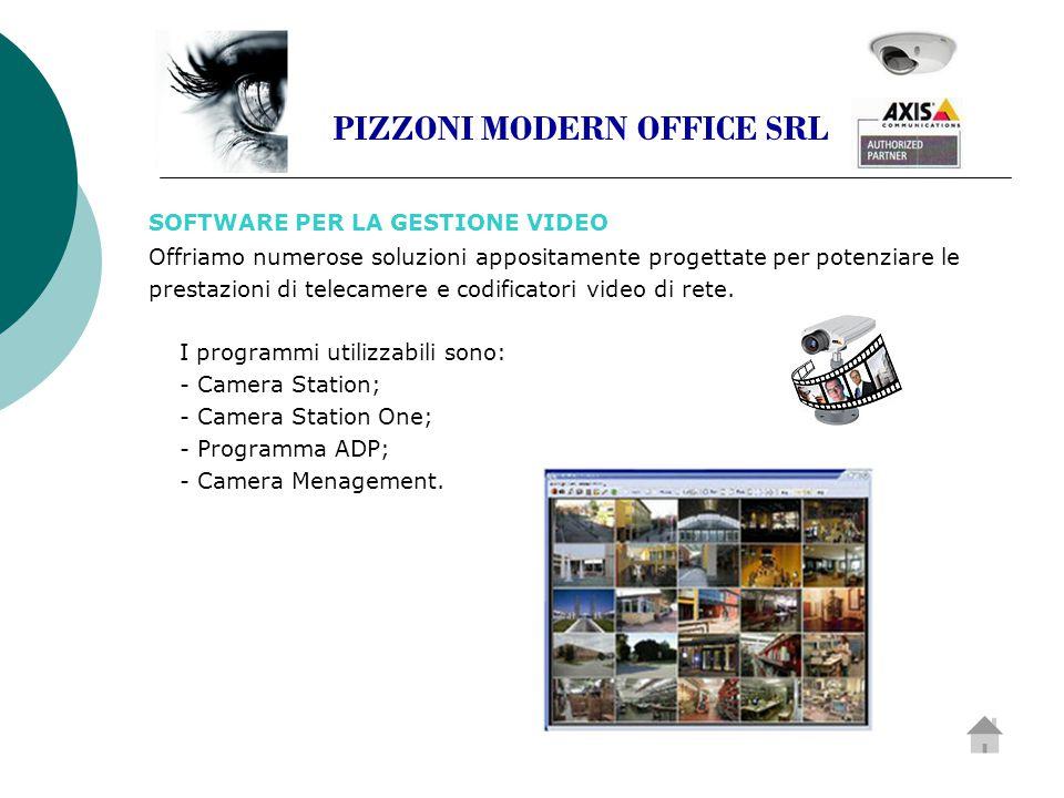SOFTWARE PER LA GESTIONE VIDEO Offriamo numerose soluzioni appositamente progettate per potenziare le prestazioni di telecamere e codificatori video di rete.