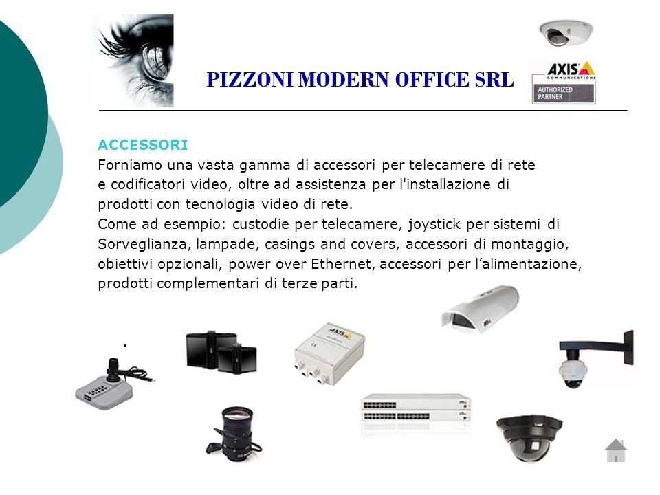 ACCESSORI Forniamo una vasta gamma di accessori per telecamere di rete e codificatori video, oltre ad assistenza per l installazione di prodotti con tecnologia video di rete.