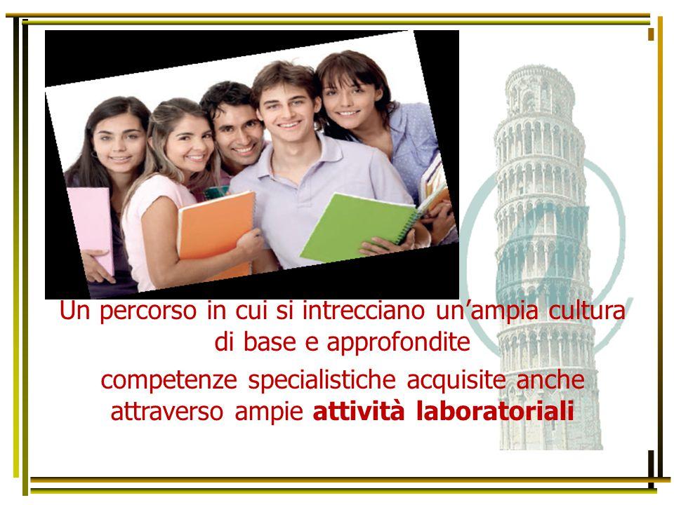 Un percorso in cui si intrecciano un'ampia cultura di base e approfondite competenze specialistiche acquisite anche attraverso ampie attività laborato