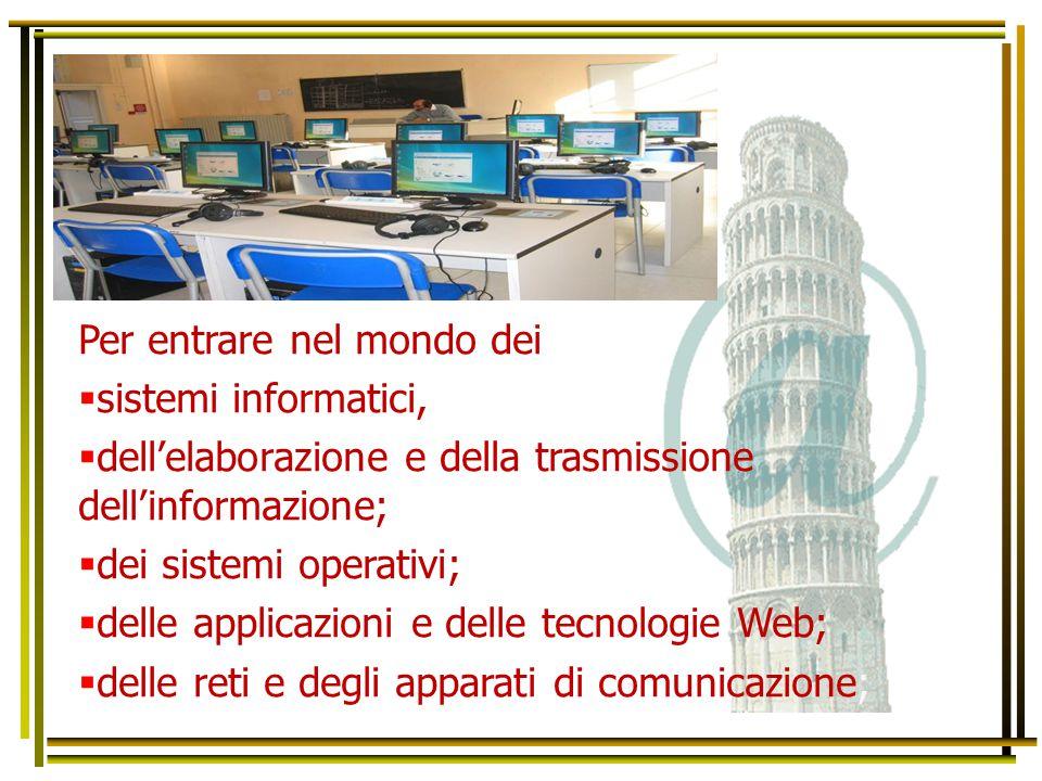 Per entrare nel mondo dei  sistemi informatici,  dell'elaborazione e della trasmissione dell'informazione;  dei sistemi operativi;  delle applicaz