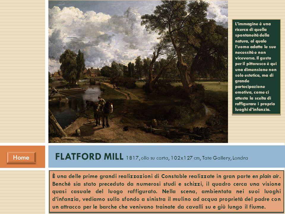 È una delle prime grandi realizzazioni di Constable realizzate in gran parte en plain air. Benché sia stato preceduto da numerosi studi e schizzi, il