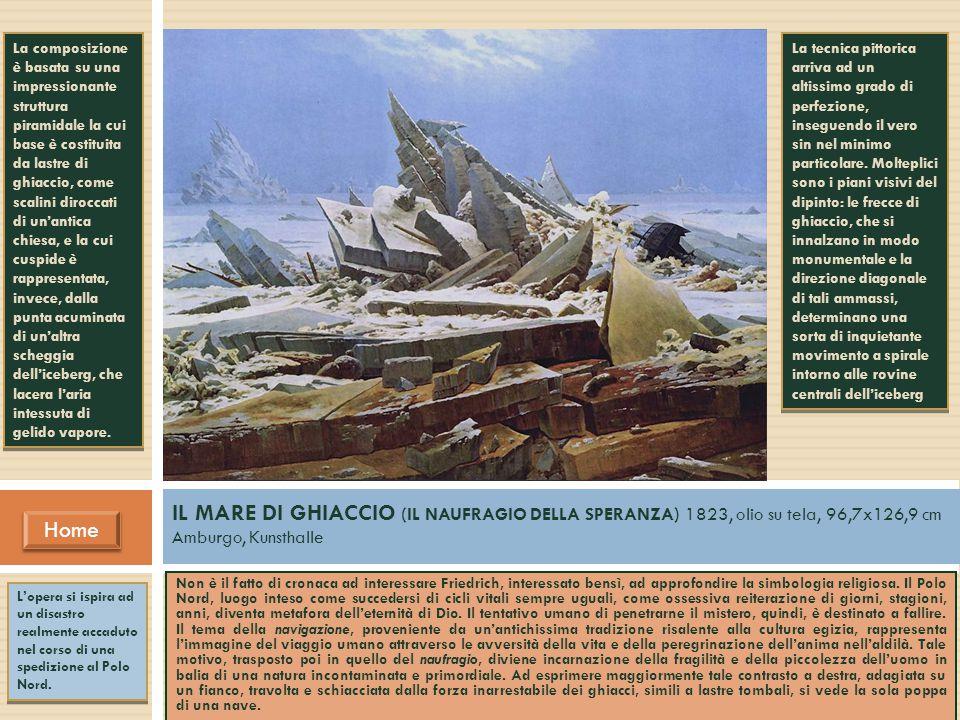 Home IL MARE DI GHIACCIO (IL NAUFRAGIO DELLA SPERANZA) 1823, olio su tela, 96,7x126,9 cm Amburgo, Kunsthalle Non è il fatto di cronaca ad interessare