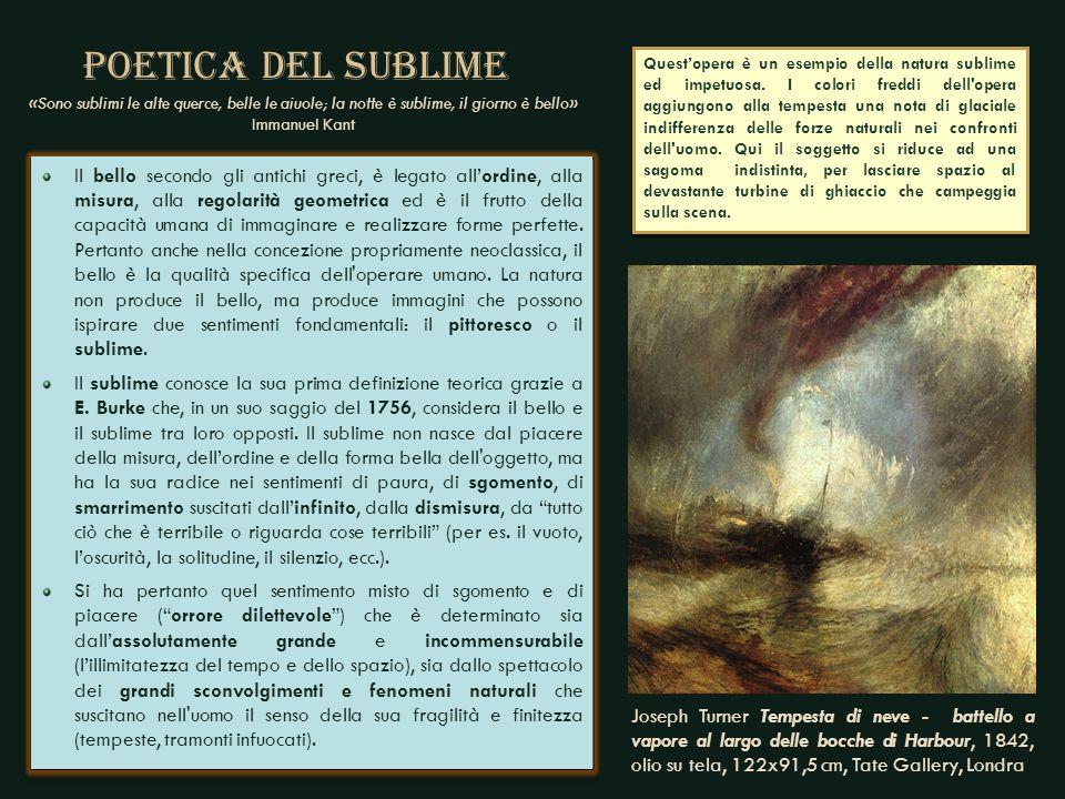 PIOGGIA, VAPORE E VELOCITA' 1844, olio su tela, 91x122 cm, National Gallery, Londra La tela è un impasto di colori indefiniti che non danno una immagine molto riconoscibile.