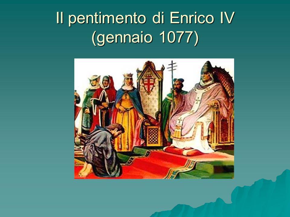 Il pentimento di Enrico IV (gennaio 1077)