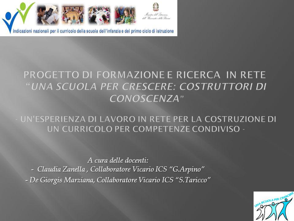 RETE DI SCUOLE I.C. Giovanni Arpino di Sommariva Bosco -Dirigente Scolastico Prof.