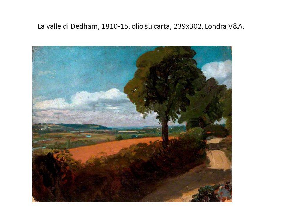 La valle di Dedham, 1810-15, olio su carta, 239x302, Londra V&A.