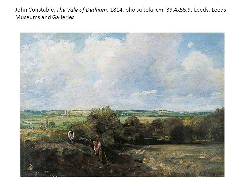 John Constable, The Vale of Dedham, 1814, olio su tela, cm. 39,4x55,9, Leeds, Leeds Museums and Galleries