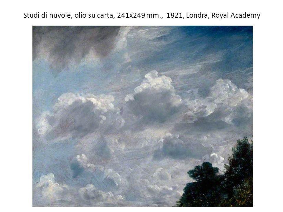 Studi di nuvole, olio su carta, 241x249 mm., 1821, Londra, Royal Academy