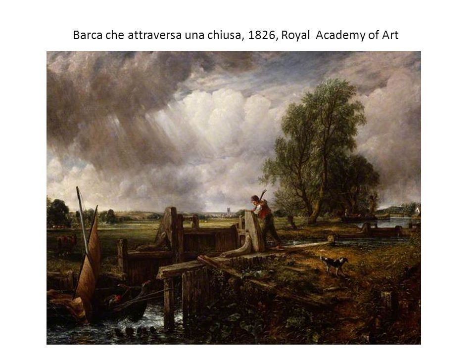 Barca che attraversa una chiusa, 1826, Royal Academy of Art